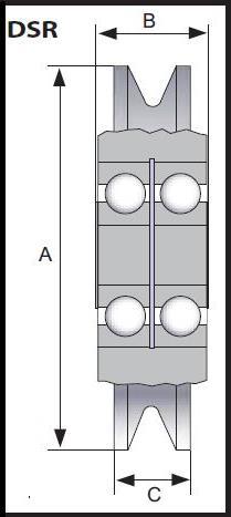 Fa. Erwin Hofmann - Drahtseilrolle DSR PREMIUM 3000kg, 16-18mm